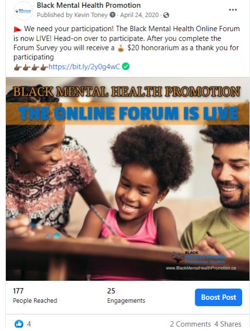 BLACK MENTAL HEALTH PROMOTION WINNIPEG