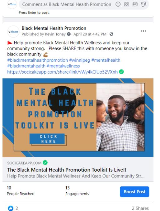 BLACK MENTAL HEALTH PROMOTION